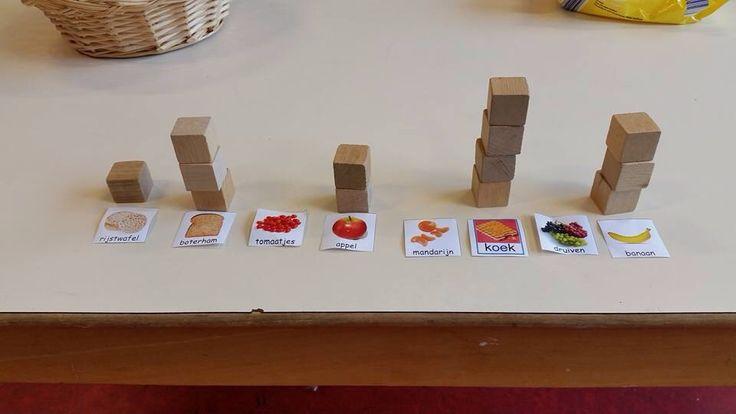 Meetkunde: Turven met blokjes tijdens fruit eten @Ineke Busscher