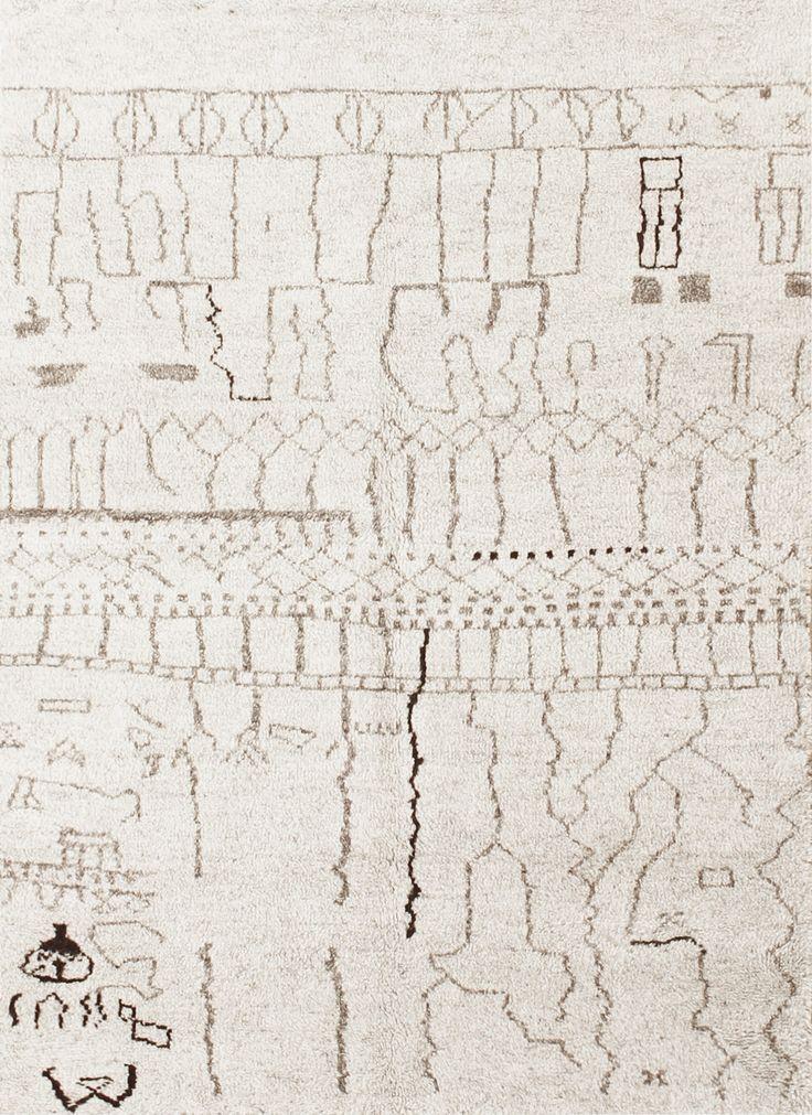 Alfombra bereber alfombra anudada a mano inspirada en for Alfombras de iran