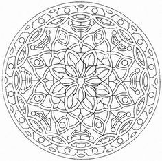 Free Large Mandala Coloring Pages | Back to Coloring pages special mandala category Mandalas