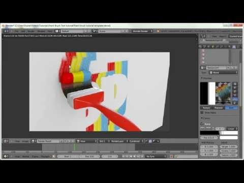 Blender Tutorial: Paint Brush Text Effect - YouTube