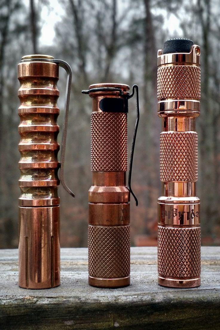Copper flashlight vs. Brass | BudgetLightForum.com