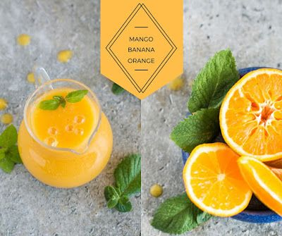 Katie's Happy Clouds: Smoothie z mango, banana i pomarańczy