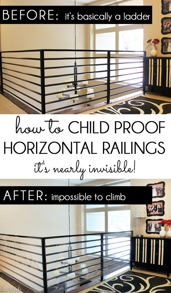 Diy With Style How To Child Proof Horizontal Railings In
