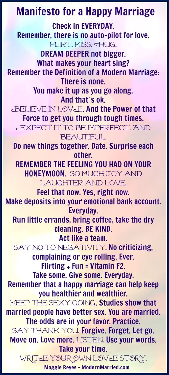 Manifesto For A Happy Marriage, love quote, positive marriage quote - click the pin to read the blog. Then go love + be loved. XO Marriage manifesto relationship quotes
