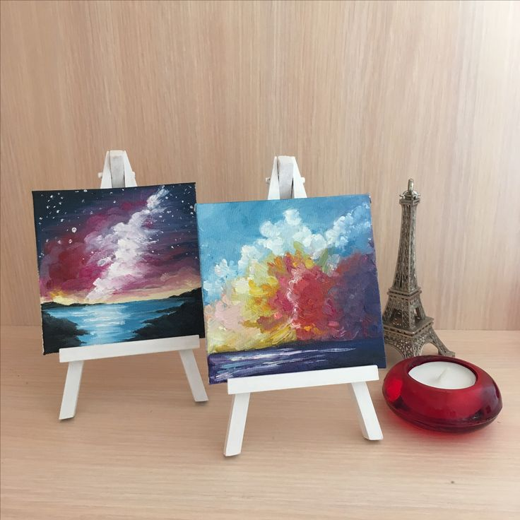 Small canvas painting, decor, oil painting
