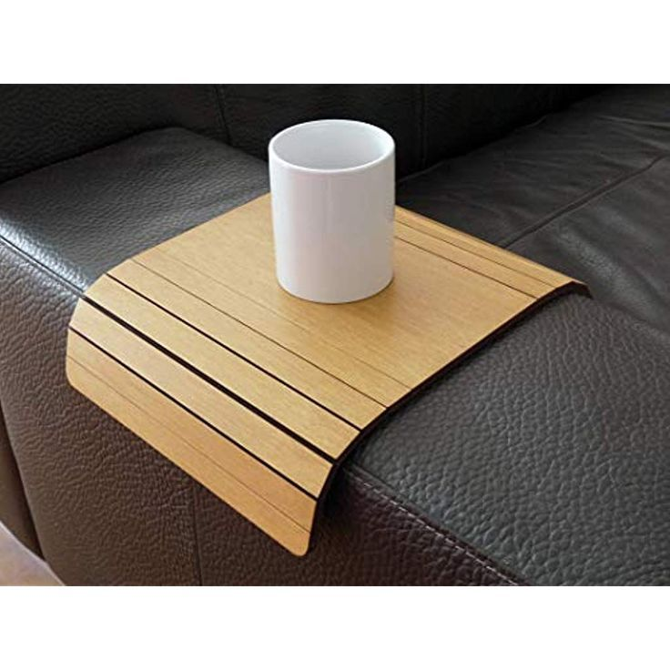 Wooden Flexible Sofa Table For Armrest In Many Colors As Light Walnut Small Slinky Over The Couch Side Tables Narrow Folding Dining Settee Arm Tray Armchair Tra