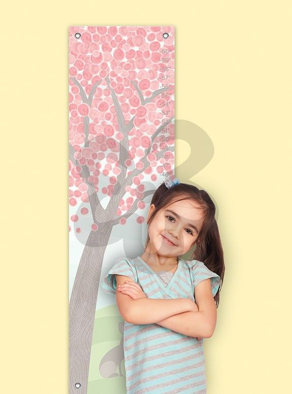 """""""Pastel Tree"""" Growth Chart by Halfpence Design starts at just $39. Perfect for little girls rooms. Approximate sizing is 12''x42''. Personalize it to make the perfect memorable gift and keepsake!"""