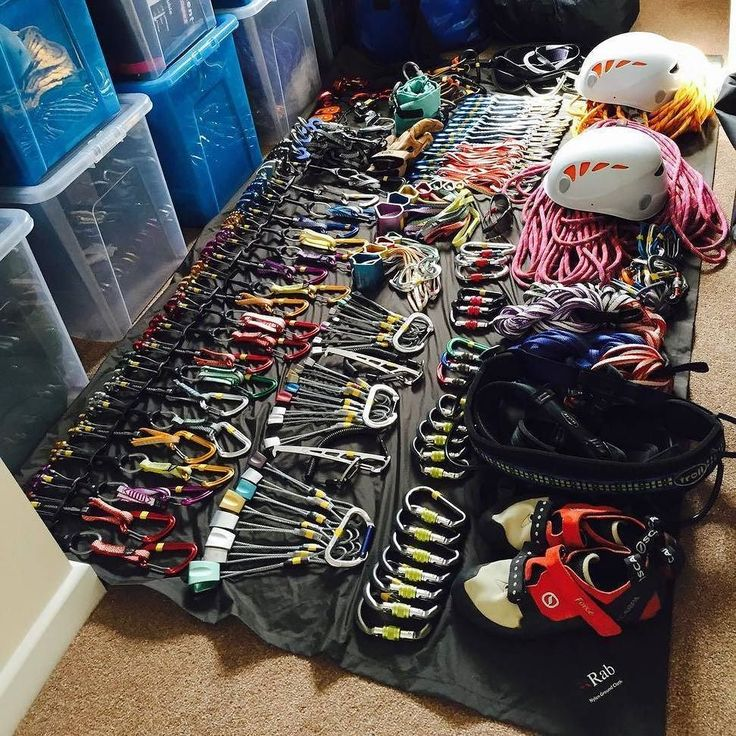 Gear collection of @reu1reuben #climbing #rockclimbing #climbinggear #tradisrad…
