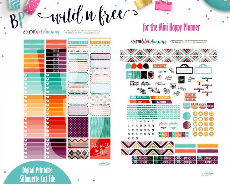 Free Printable – Mini Happy Planner – BEaYOUtiful Planning