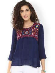 Bhama Couture Navy Top