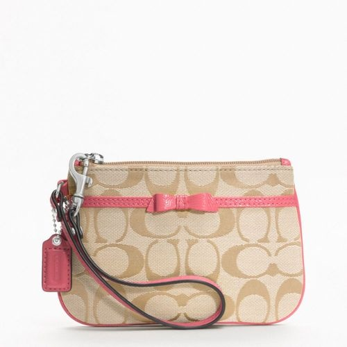 COACH F48809 CORAL BOW SWRISTLET is going up for auction at  5pm Mon, May 13 with a starting bid of $1.
