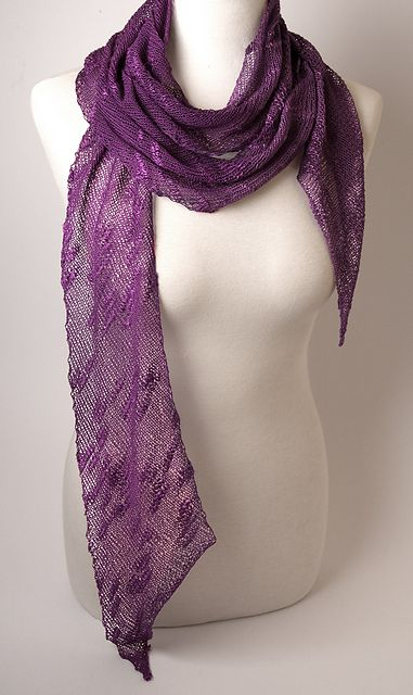 Ravelry: Risoni Bias Scarf pattern by Knit Purl Lace Weight Patterns Pint...