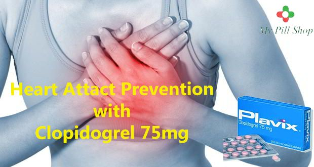 Buy Clopidogrel 75mg tablet with brand name Plavix to treat blood clot formation in the blood vessels and prevents from heart attack. Buy Clopidogrel 75 mg from MyPillshoP at best price. http://www.mypillshop.com/plavix-clopidogrel-75mg.html