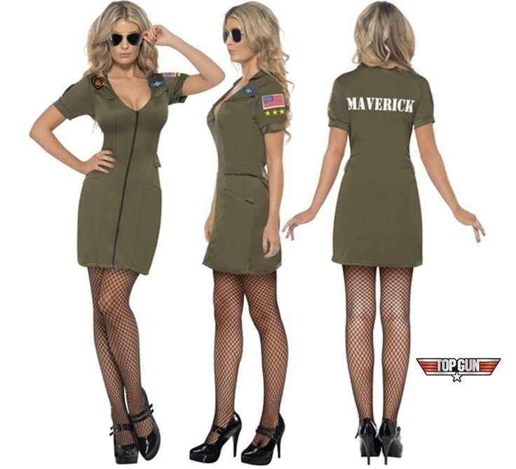 Disfraz de la película de Top Gun sexy para mujer talla S   Disfrazzes   Tienda de disfraces online