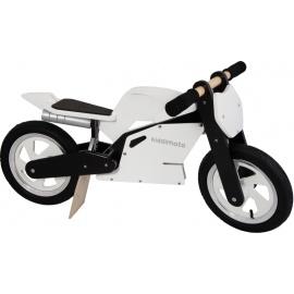 Witte Kiddimoto superbike loopfiets    Steel de show met deze fantastische MotoGP superbike replica, gebaseerd op de echte racemotoren.  Met deze loopfiets ontwikkel je razendsnel een goede balans, coördinatie en motoriek waardoor de overstap naar de echte fiets haast vanzelf gaat.  Deze superbike is een stoer, orgineel en leerzaam kado waarmee bij ieder kind een lach op het gezicht getoverd wordt.