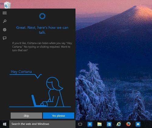 Set Cortana