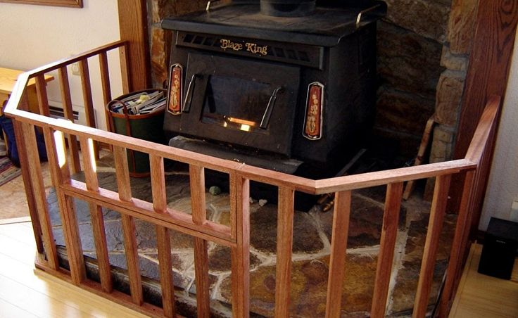 The fence for the woodstove is finally finished! Yes! Here's a shot showing the hinged gate section in the open position. This will allo...