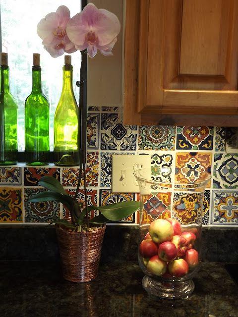 mexican tile backsplash, tile backsplash tutorial, diy tile backsplash