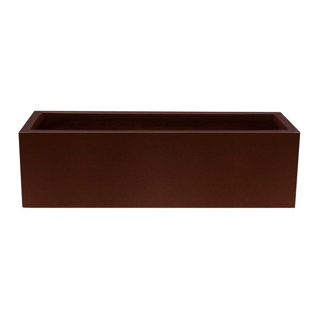 Our long rectangular Milano planter box offered in fiberglass for a timeless look that adds modern appeal.    Fits neatly into a smaller space while still holding its own among larger design elements Choose from 16 painted finishes to complement classic, urban and contemporary decor Simple, modern shape is striking and sophisticated  Availability: In Stock. Ships in 7 to 14 days Drainage: Drainage holes optional Material: Fiberglass As tall as it is long, the Milano fiberglass planter's…