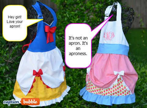 Just a picture for sewing inspiration of disney-esque aprons