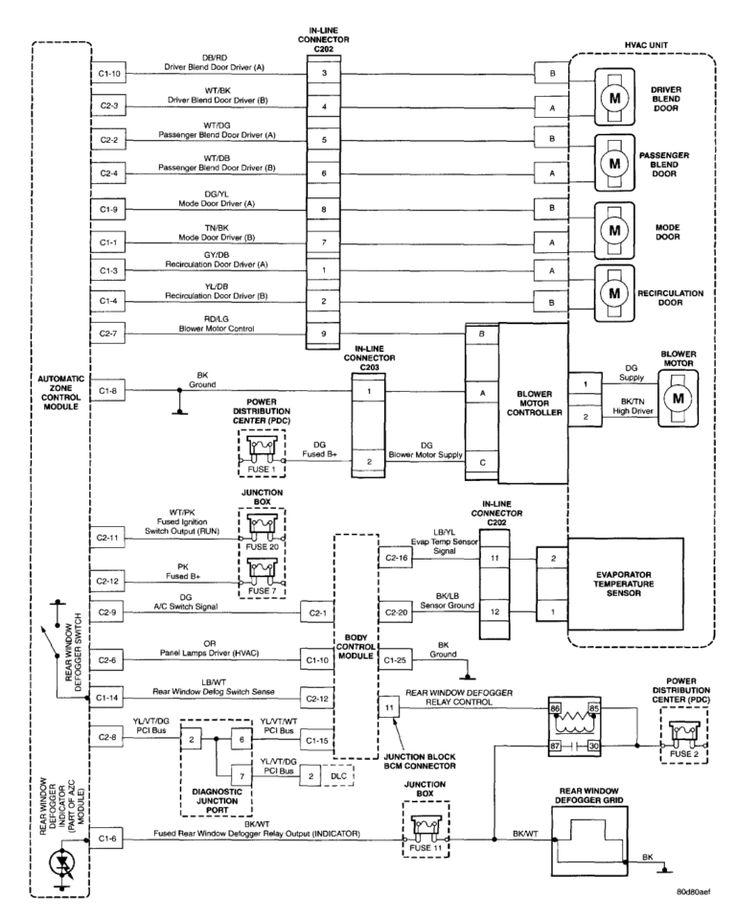 Wiring Diagram 2002 Jeep Grand Cherokee Blower Motor In