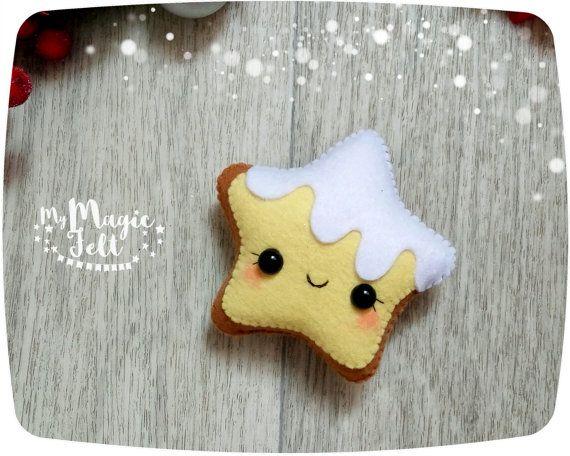Christmas ornaments gingerbread Star felt ornament by MyMagicFelt
