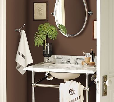 Pretty chocolate brown color for my spare bathroom
