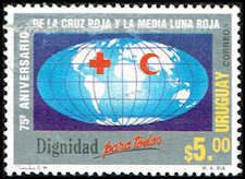 Uruguay #1556 Stamp for sale  Red Cross Stamp