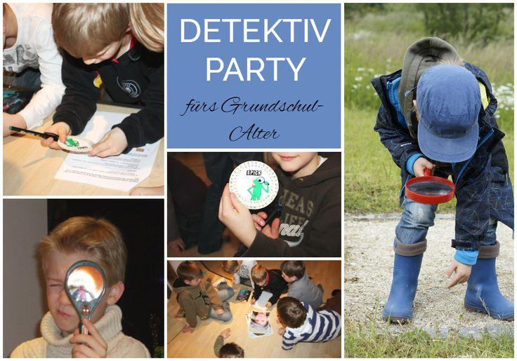 Kindergeburtstag feiern mit Jungen jeden Alters. Detektiv Party mit Tipps von der Einladung bis zum Kuchenbacken: https://einfachstephie.de/2016/10/05/kindergeburtstag-feiern-mit-jungen-jeden-alters/