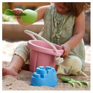 Green Toys outdoor play toys are sturdy, tough and scrub up like new. #toys2learn#greentoys#beach#sand#preschool#play#gift#