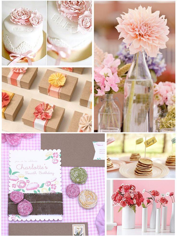 inspirationShower Ideas, Pink Flower, Crafts Ideas, Fun Ideas, Flower Parties, Plans Ideas, Parties Ideas, Parties Brunches
