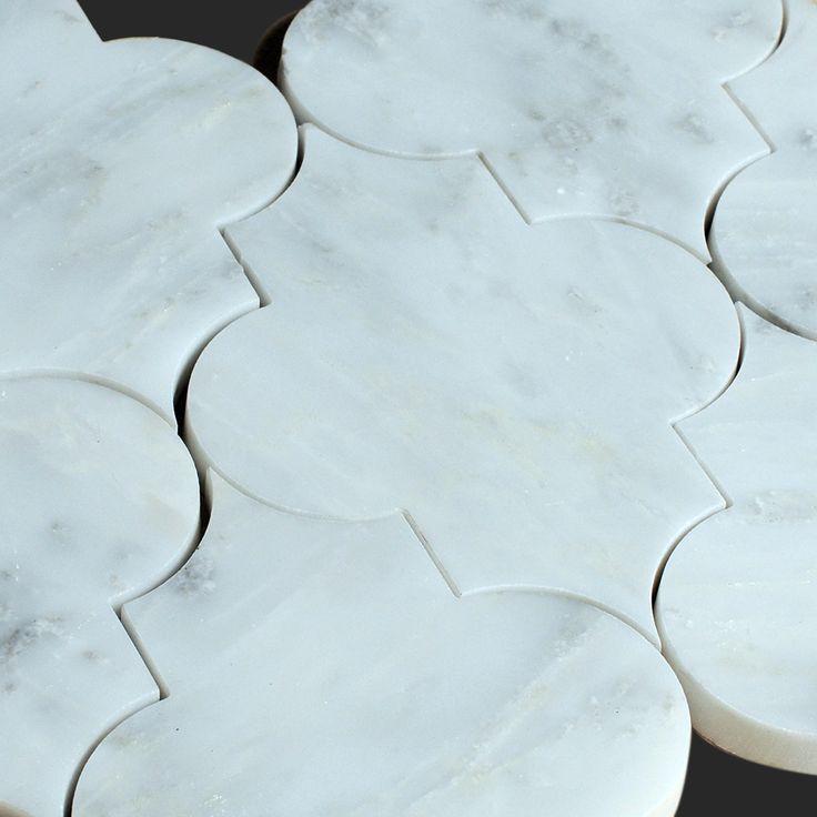 alya stone tile arabescato carrara arabesque water jet mosaic tile 10x75