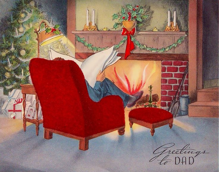 299 Best Old Fashioned Christmas Cards Fireplaces