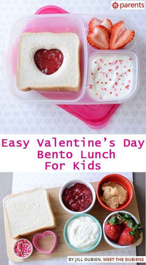 TUTORIAL - Easy Valentine's Day Bento lunch for kids.