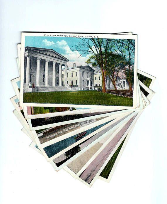 9 Sailors' Snug Harbor Postcards Vintage Staten Island