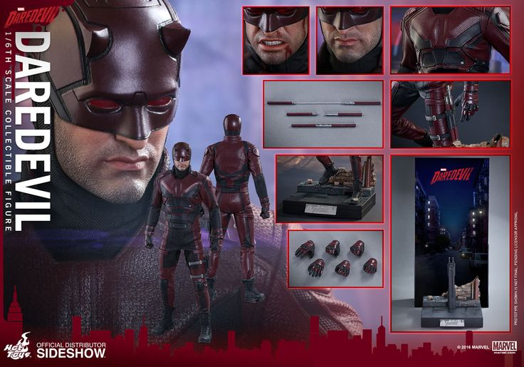 Netflix's Daredevil has revolutionised whats possible for super heroes on the small screen and to celebrate here is the devil of hell's kitchen in a finely detailed and crafted 1/6 figure.  Charlie Cox's Matt Murdoch comes with screen accurate facial expressions. detailed wrinkles and skin texture, a hand painted helmet and 2 interchangeable lower part of the faces (neutral and angry).  The man without fear also comes with 30 points of articulation, multiple weapons and speci...