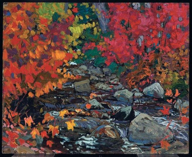J. E. H. MacDonald - Autumn Leaves, Batchewana Woods, Algoma