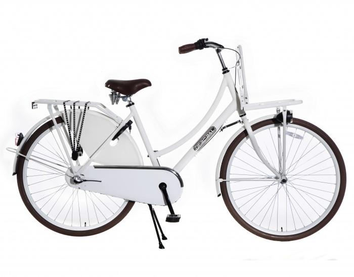 Transportfiets Daily Dutch Wit 28 Inch   bestel gemakkelijk online op Fietsen-verkoop.nl