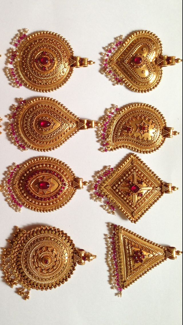Gold Handmade Antique Pendant Temple Jewellery K T ARTS Kolhapur.