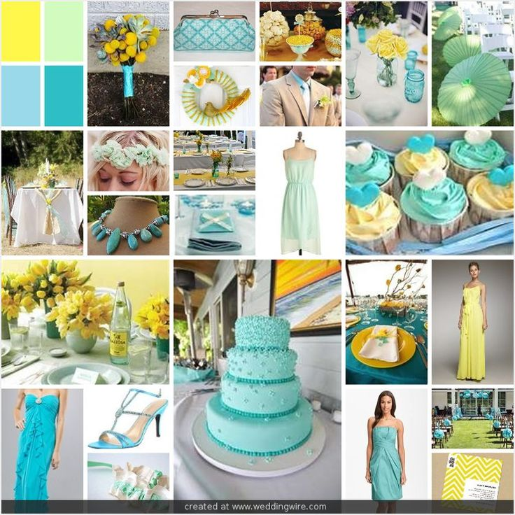 Wedding Inspirations Yellow Mint And Aqua