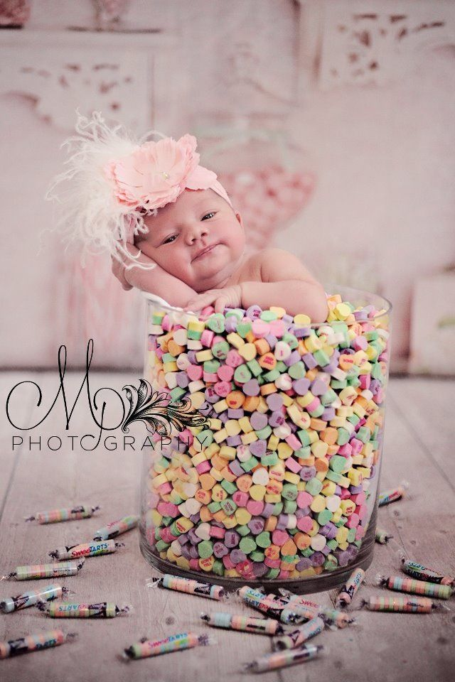 Valentines day newborn. #newbornphotography #candy #valentinesday