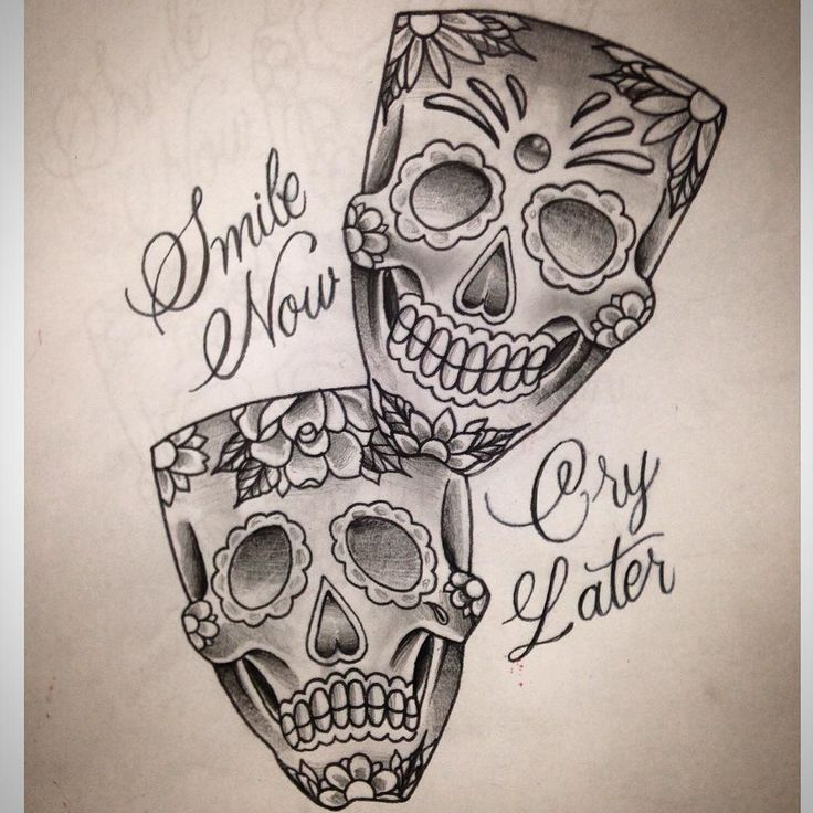 Skull Drama Face Tattoo: 94 Best SMILE NOW CRY LATER Images On Pinterest