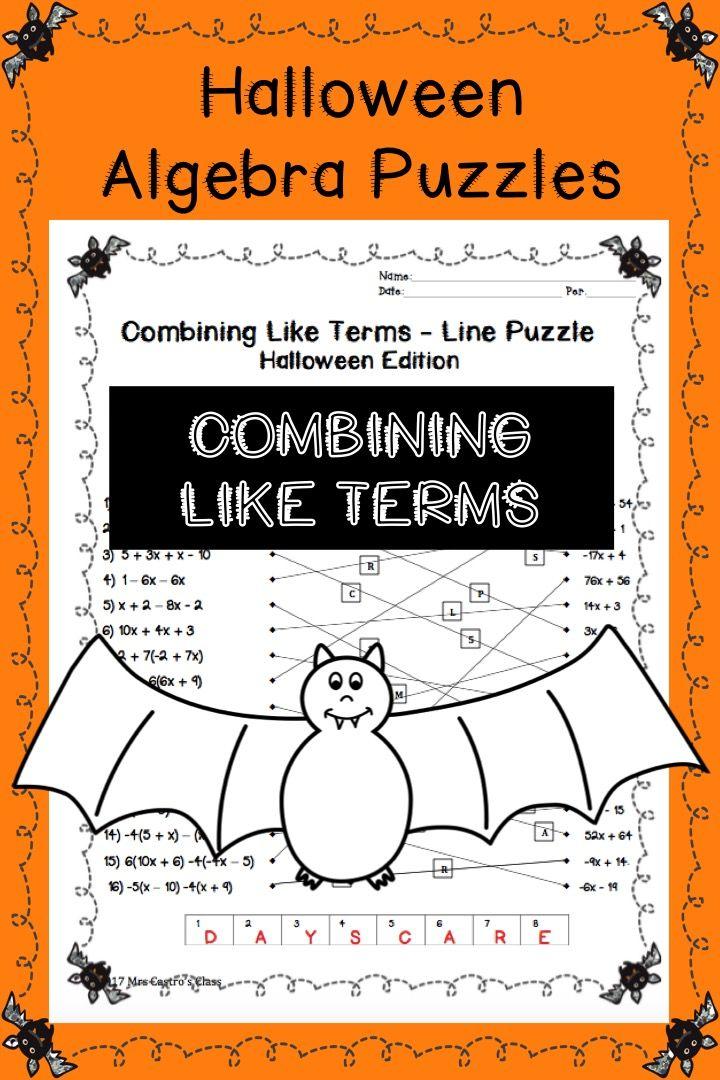 Printable Worksheets halloween algebra worksheets : 261 best Algebra images on Pinterest   Algebra 2, Math and Math ...