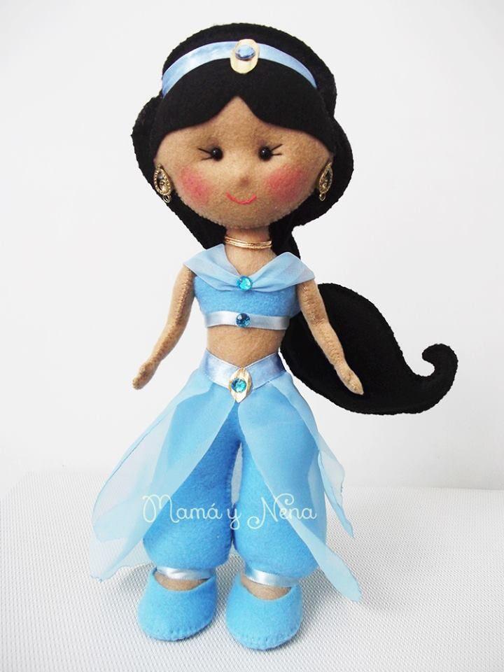 Princesa Jasmine em Feltro