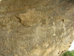 Petroglyphs in the National Park Gobustan dating back 12000 years