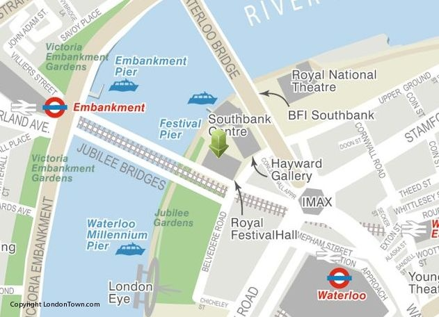 Location map of Festival of Neighbourhood from http://LondonTown.com