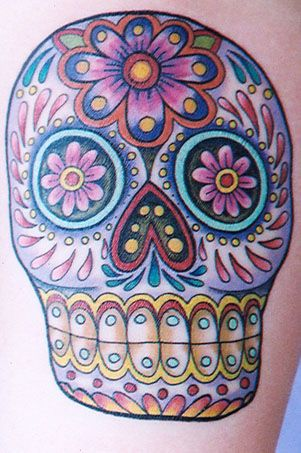 sugar skull..one of my many tattoo ideas