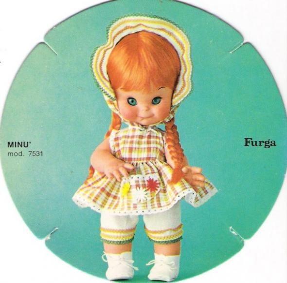 Minù Furga capelli rossi catalogo dolly do 1970