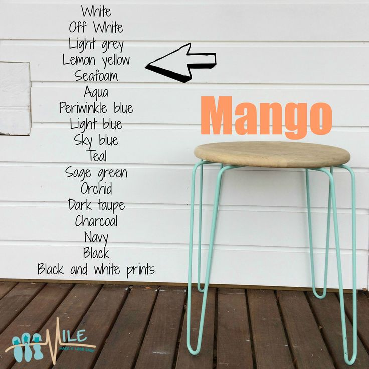 Mango goes with...