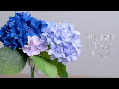 How to make paper Hydrangea flower from printer paper, FREE TEMPLATE, very EASY - YouTube